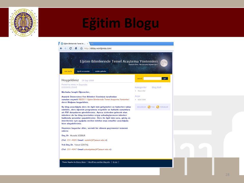 Eğitim Blogu 28