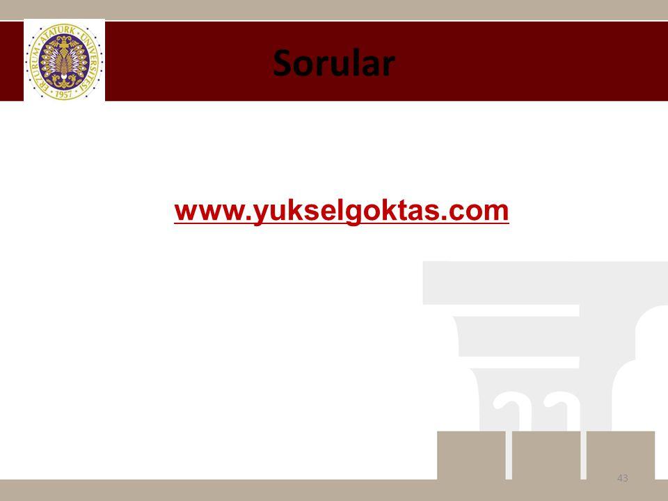 Sorular 43 www.yukselgoktas.com
