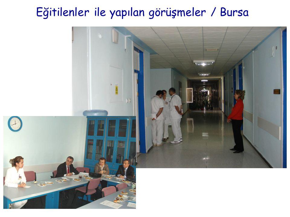 Eğitilenler ile yapılan görüşmeler / Bursa
