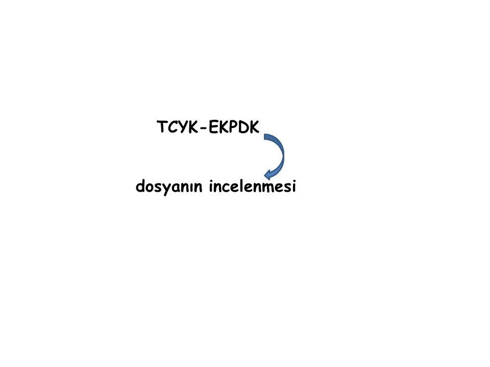 TCYK-EKPDK dosyanın incelenmesi