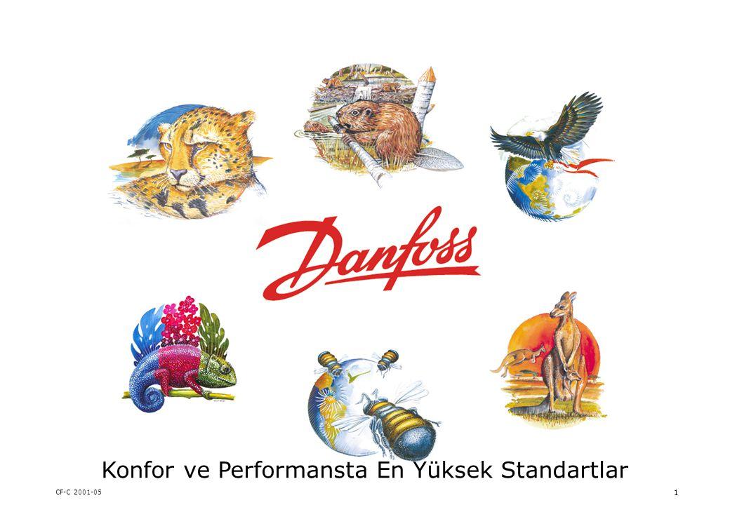CF-C 2001-05 12 Danfoss Vizyonu Danfoss paydaşlarına fayda yaratırken, yüksek teknolojiyi kullanarak hayat kalitesini arttıran, saygı duyulan ve ana faaliyet alanlarında lider olan global bir şirket olacaktır.