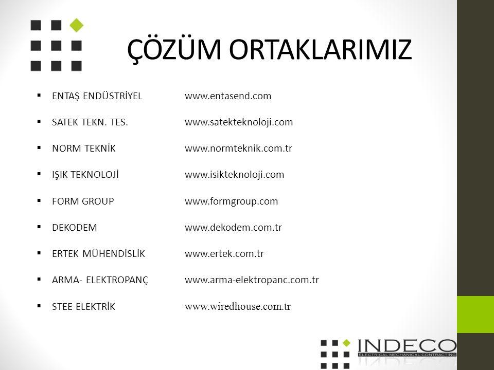 ÇÖZÜM ORTAKLARIMIZ  ENTAŞ ENDÜSTRİYEL www.entasend.com  SATEK TEKN.