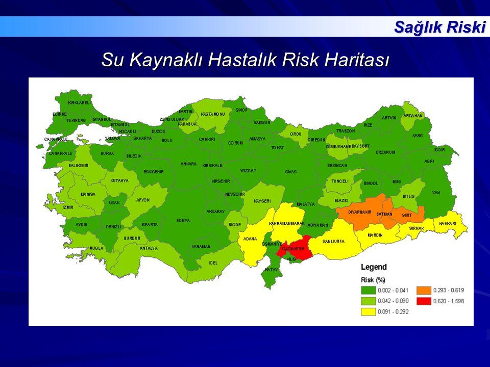 Su Kaynaklı Hastalık Risk Haritası Sağlık Riski