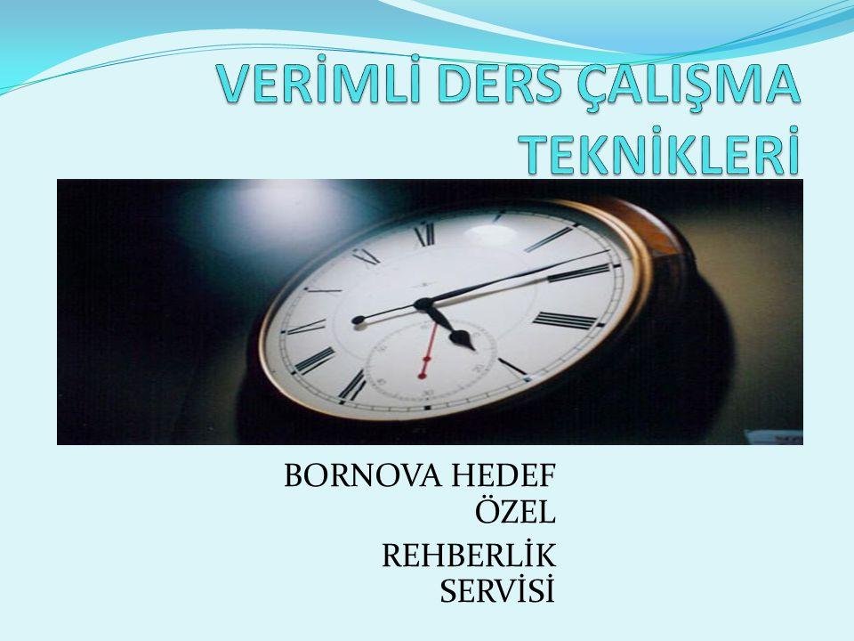 BORNOVA HEDEF ÖZEL REHBERLİK SERVİSİ