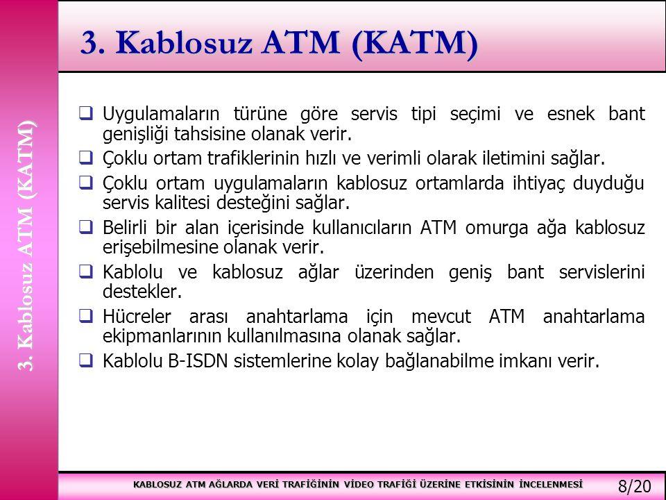 KABLOSUZ ATM AĞLARDA VERİ TRAFİĞİNİN VİDEO TRAFİĞİ ÜZERİNE ETKİSİNİN İNCELENMESİ 3.2.