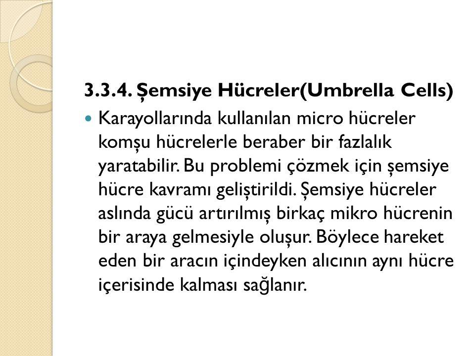 3.3.4. Şemsiye Hücreler(Umbrella Cells)  Karayollarında kullanılan micro hücreler komşu hücrelerle beraber bir fazlalık yaratabilir. Bu problemi çözm