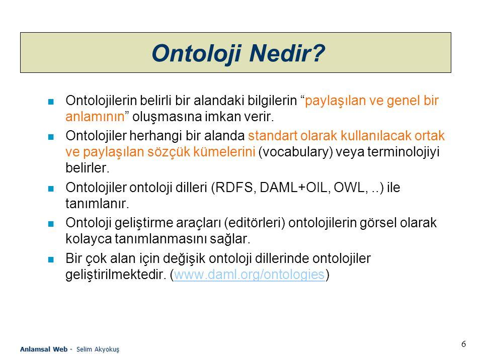 7 Anlamsal Web - Selim Akyokuş Ontoloji Nedir.
