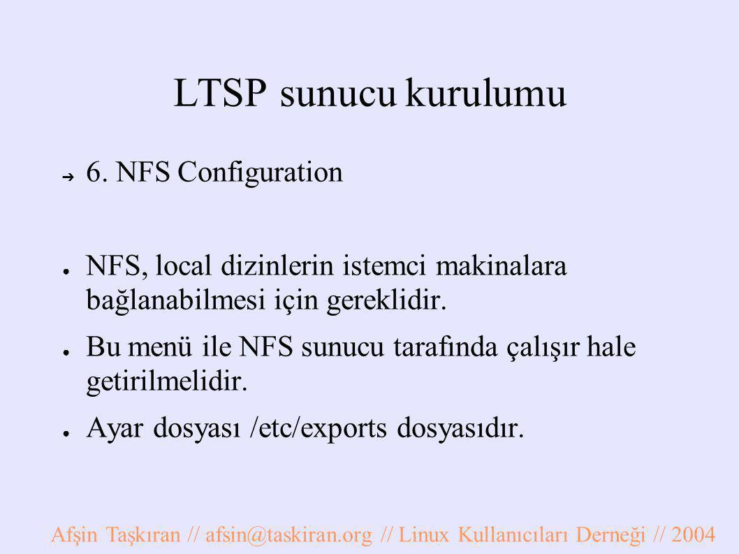 LTSP sunucu kurulumu ➔ 6.
