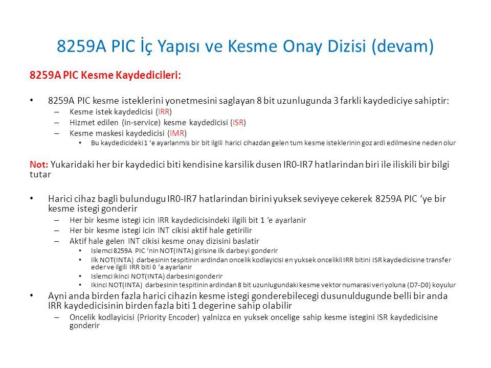 8259A PIC 'nin Baslatilmasi ve Programlanmasi (devam) ICW Komut Formatlari: (Indispensable PC Hardware Book)