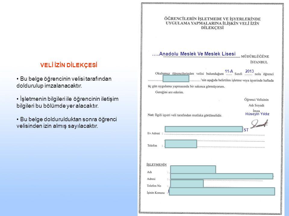 …..Anadolu Meslek Ve Meslek Lisesi 11-A2013 Ali YILDIZ Hüseyin Yıldız Mestan mah. Seren sok. no : 64 Halkalı / İST 0(212) 6596999 Güncel bil. AŞ. Ltd.