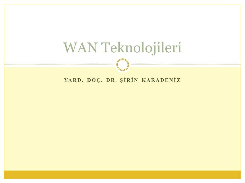YARD. DOÇ. DR. ŞİRİN KARADENİZ WAN Teknolojileri
