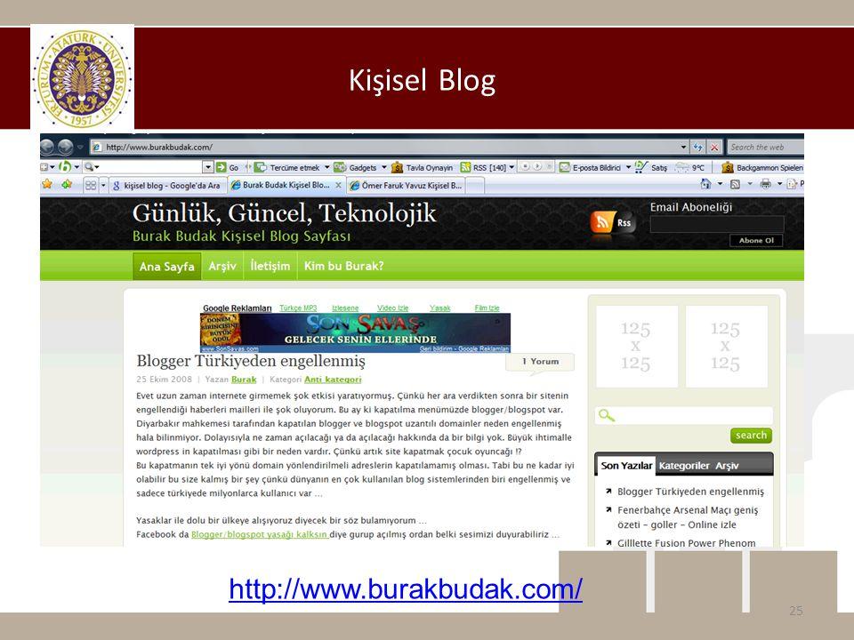 Kişisel Blog 25 http://www.burakbudak.com/