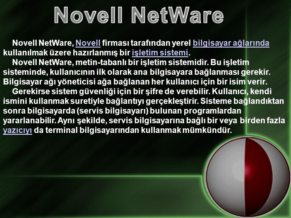 Novell NetWare, Novell firması tarafından yerel bilgisayar ağlarında kullanılmak üzere hazırlanmış bir işletim sistemi.Novellbilgisayar ağlarındaişletim sistemi Novell NetWare, metin-tabanlı bir işletim sistemidir.