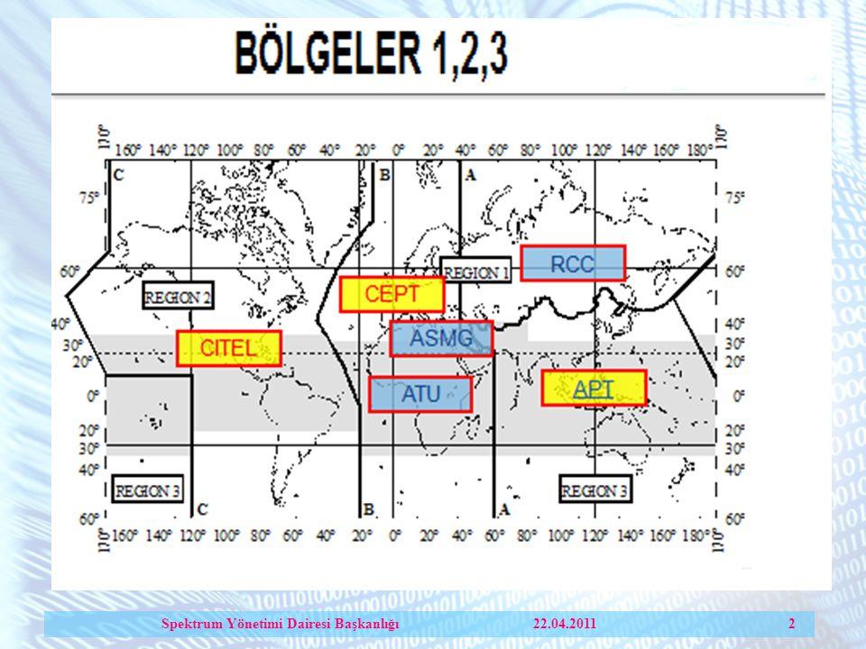 Spektrum Yönetimi Dairesi Başkanlığı 22.04.2011 2