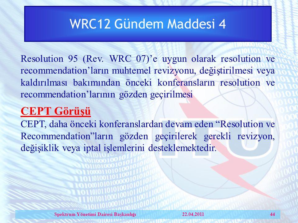 WRC12 Gündem Maddesi 4 Resolution 95 (Rev.