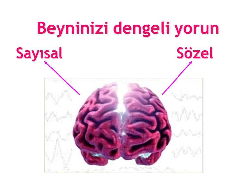 SayısalSözel Beyninizi dengeli yorun