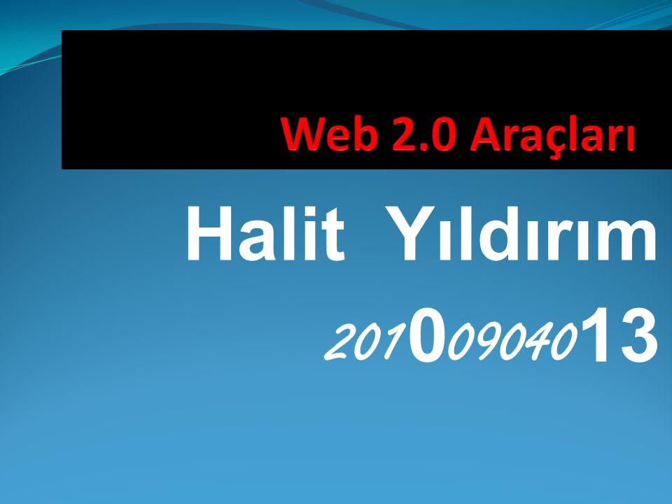  Web 2.0 araçları  Web 2.0 nedir .
