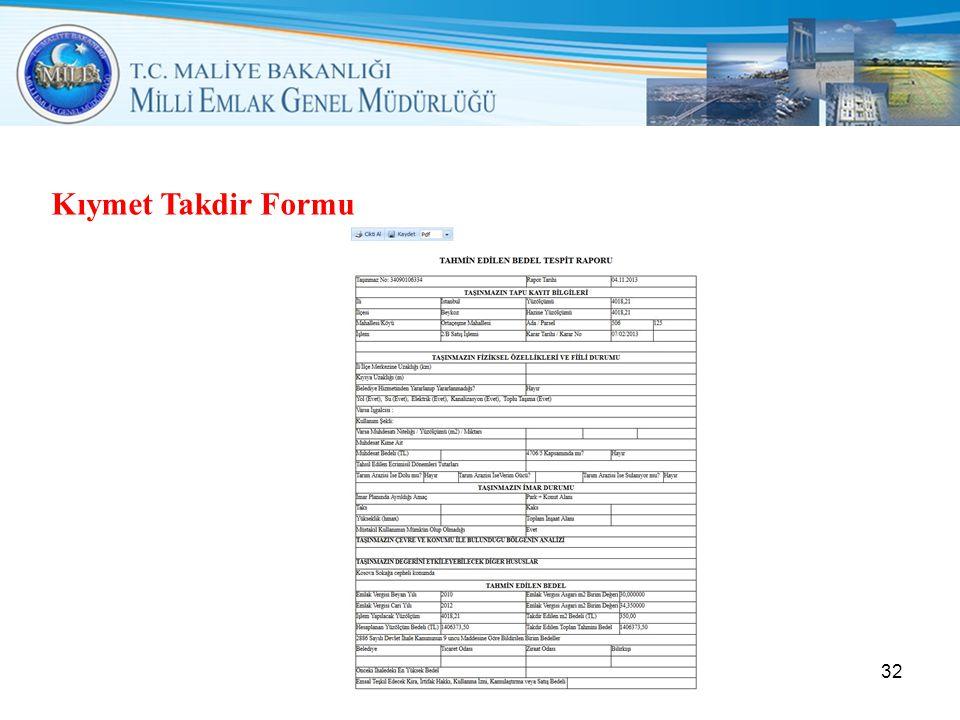 Kıymet Takdir Formu 32