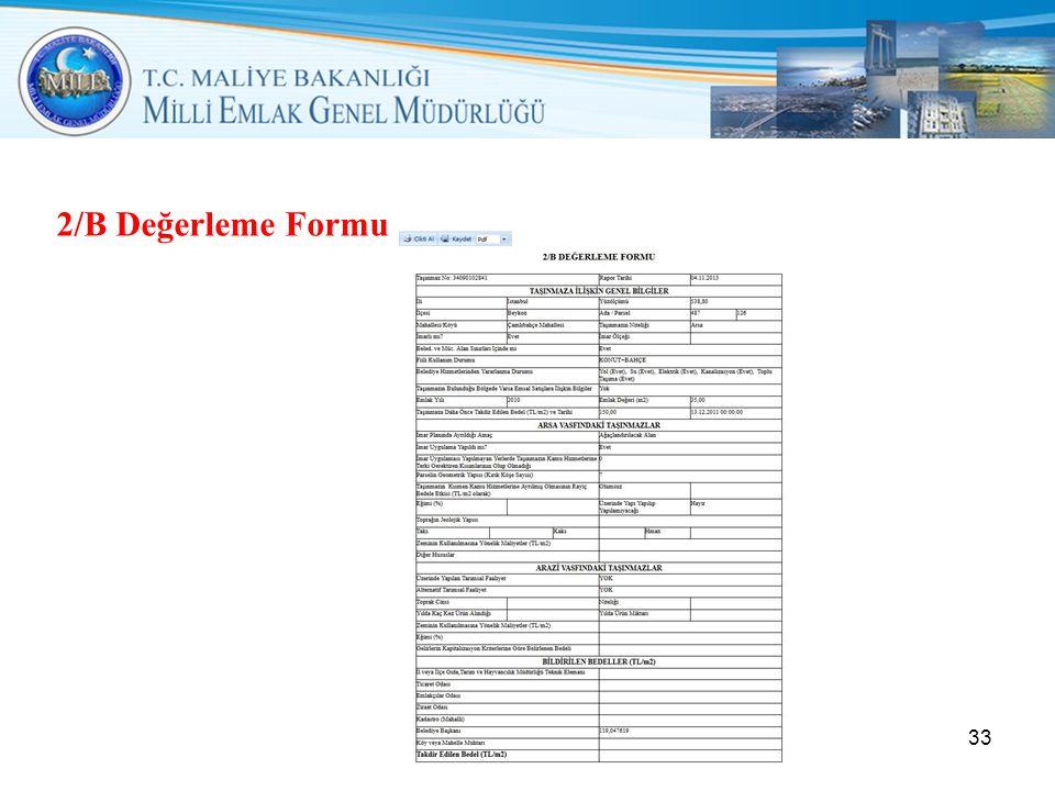 2/B Değerleme Formu 33