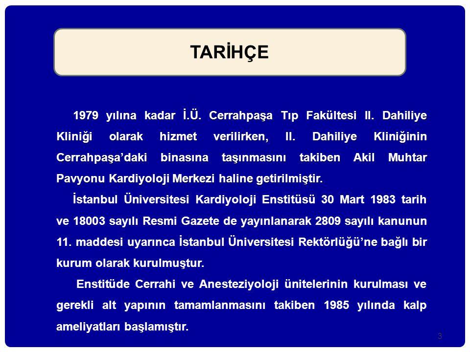 4 İÜ Kardiyoloji Enstitüsü Başhemşireleri Leman Güneş 1974-1981 Yüksel Tufan 1981-1994 Nahide Emekligil 1994-2001 Saliha Kaya 2001-……..