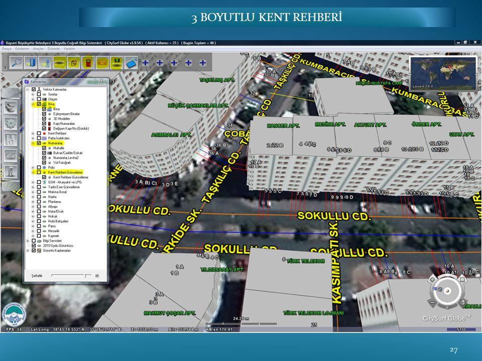 Bina, Yol, Kapı, Kent Rehberi Ekleme/Düzenleme 27 3 BOYUTLU KENT REHBERİ