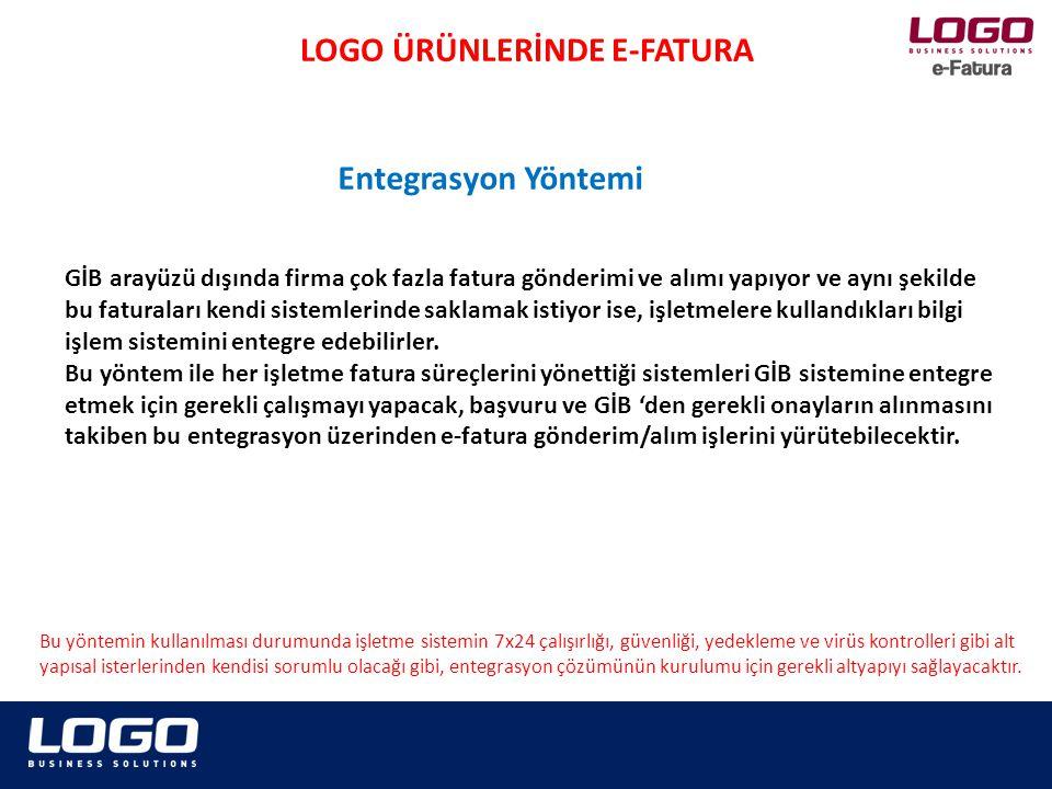 Fatura Uygulamasından entegrasyon yöntemi ile yararlanmak isteyen mükelleflerin www.efatura.gov.tr internet adresinde yayımlanan e-Fatura Uygulamasına kağıt başvuru kılavuzu veya e-Fatura Uygulamasına Elektronik Başvuru Kılavuzuna göre GİB'e başvuru yapmaları gerekmektedir.