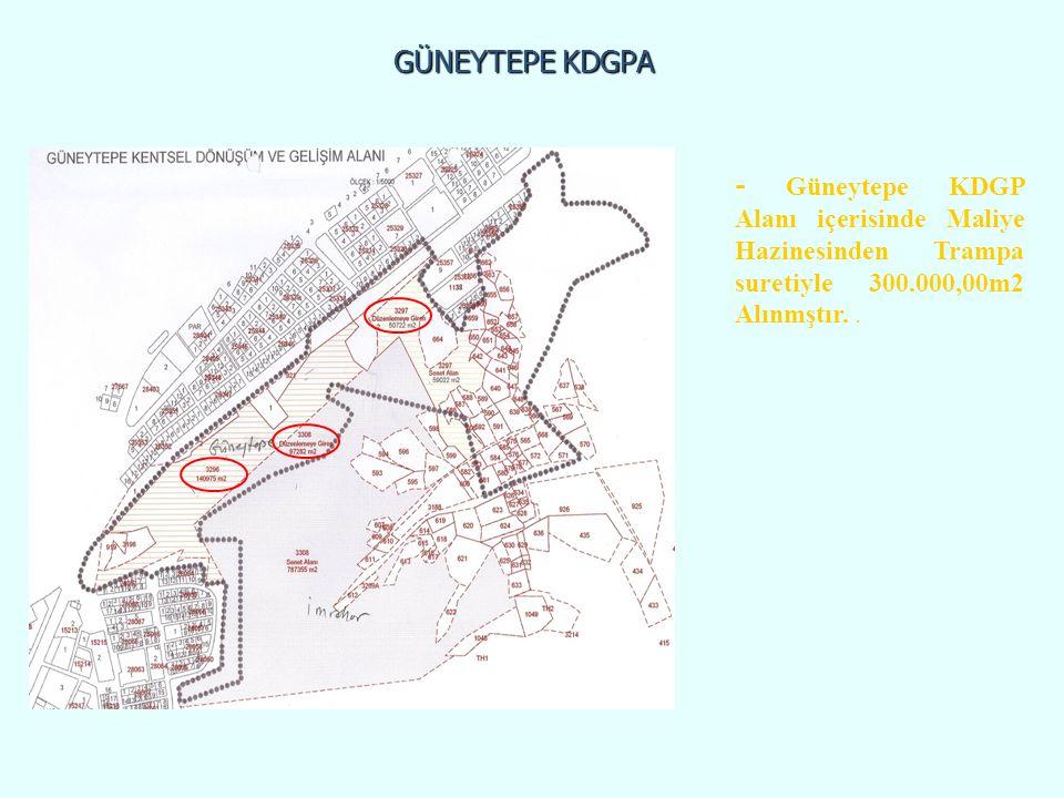 GÜNEYTEPE KDGPA - Güneytepe KDGP Alanı içerisinde Maliye Hazinesinden Trampa suretiyle 300.000,00m2 Alınmştır..