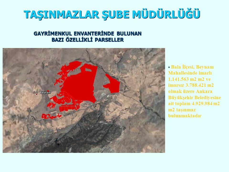 63865 ada 2 Parsel - Yenimahalle İlçesi İstasyon Mahallesinde bulunan Belediyemize ait toplam 124.475,80 m2 alanlı E=4.50 ve M.İ.A.