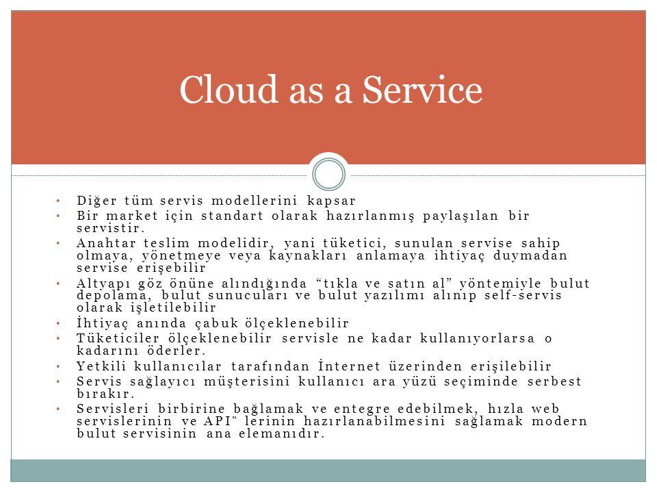 • Diğer tüm servis modellerini kapsar • Bir market için standart olarak hazırlanmış paylaşılan bir servistir. • Anahtar teslim modelidir, yani tüketic