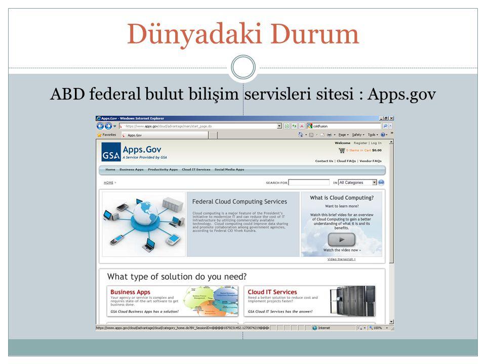 ABD federal bulut bilişim servisleri sitesi : Apps.gov