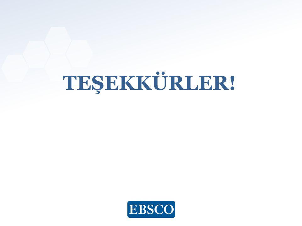 www.ebsco.com TEŞEKKÜRLER!