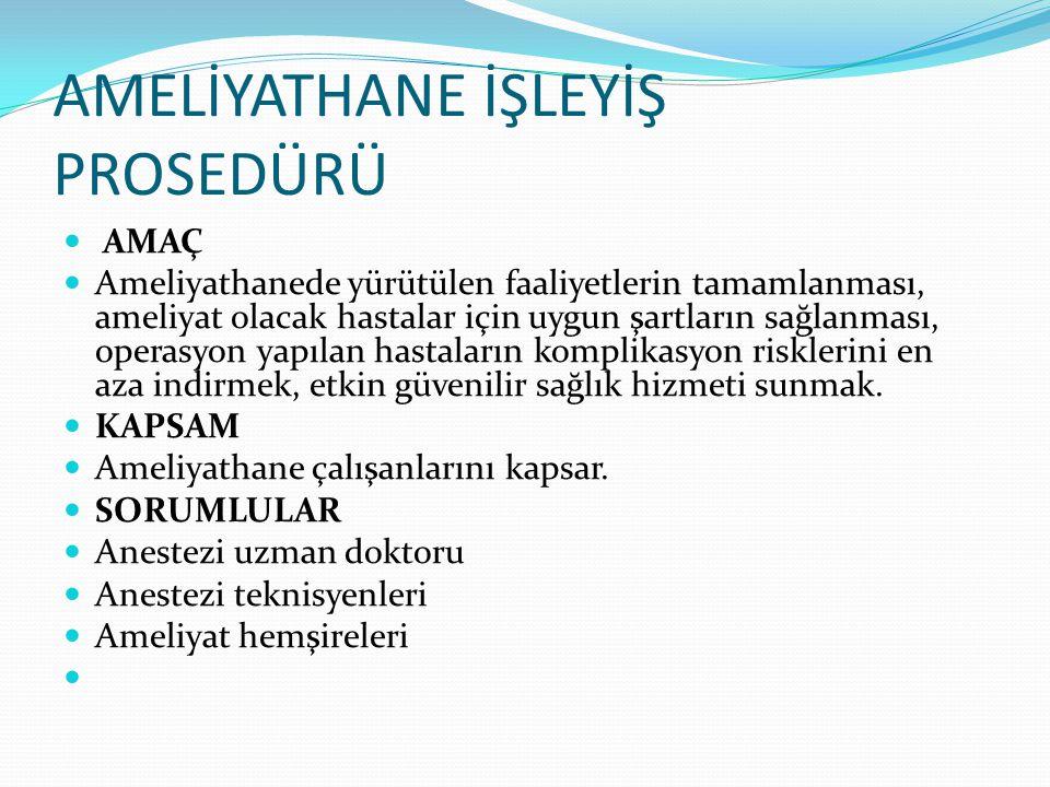  Etüv kullanma talimatı(TL-11) Etüv kullanma talimatı(TL-11)  Sterilizasyon ve Dezenfeksiyon Talimatı(TL-03) Sterilizasyon ve Dezenfeksiyon Talimatı(TL-03)  Ameliyathane Temizlik Takip Formu(FR-138) Ameliyathane Temizlik Takip Formu(FR-138)  Güvenli Cerrahi İşaretleme Talimatı (TL-80) Güvenli Cerrahi İşaretleme Talimatı (TL-80)  Hasta Güvenliği Talimatı(TL-100) Hasta Güvenliği Talimatı(TL-100)  Kesici Delici Alet Yaralanmalarından Korunma ve İzleme Talimatı(TL-82) Kesici Delici Alet Yaralanmalarından Korunma ve İzleme Talimatı(TL-82)  Kirli Çamaşırların Toplanması ve Transferi Talimatın(TL-120) Kirli Çamaşırların Toplanması ve Transferi Talimatın(TL-120)  Atık Yönetimi Talimatı (TL-123) Atık Yönetimi Talimatı (TL-123)  İlaç-Sarf Malzeme Temin Ve Stok Talimatı(TL-87) İlaç-Sarf Malzeme Temin Ve Stok Talimatı(TL-87)  Uyuşturucu İlaç Talep, Devir, Muhafazası Talimatı (TL-88) Uyuşturucu İlaç Talep, Devir, Muhafazası Talimatı (TL-88  Teknik Tamir İstem Formu(FR-50) Teknik Tamir İstem Formu(FR-50)