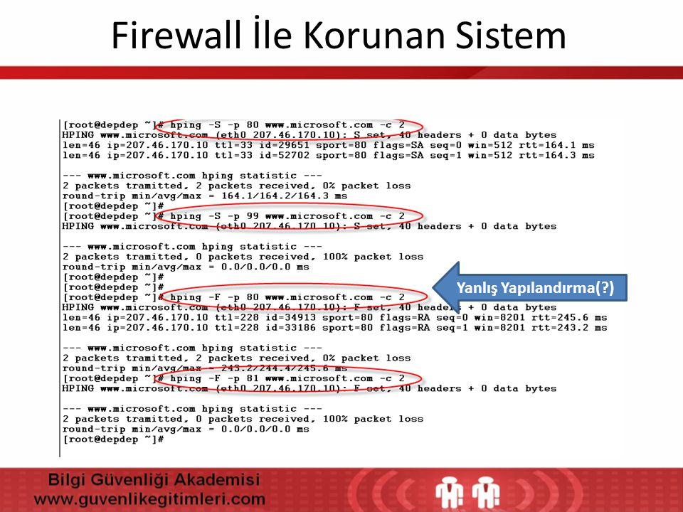 Firewall İle Korunan Sistem Yanlış Yapılandırma(?)