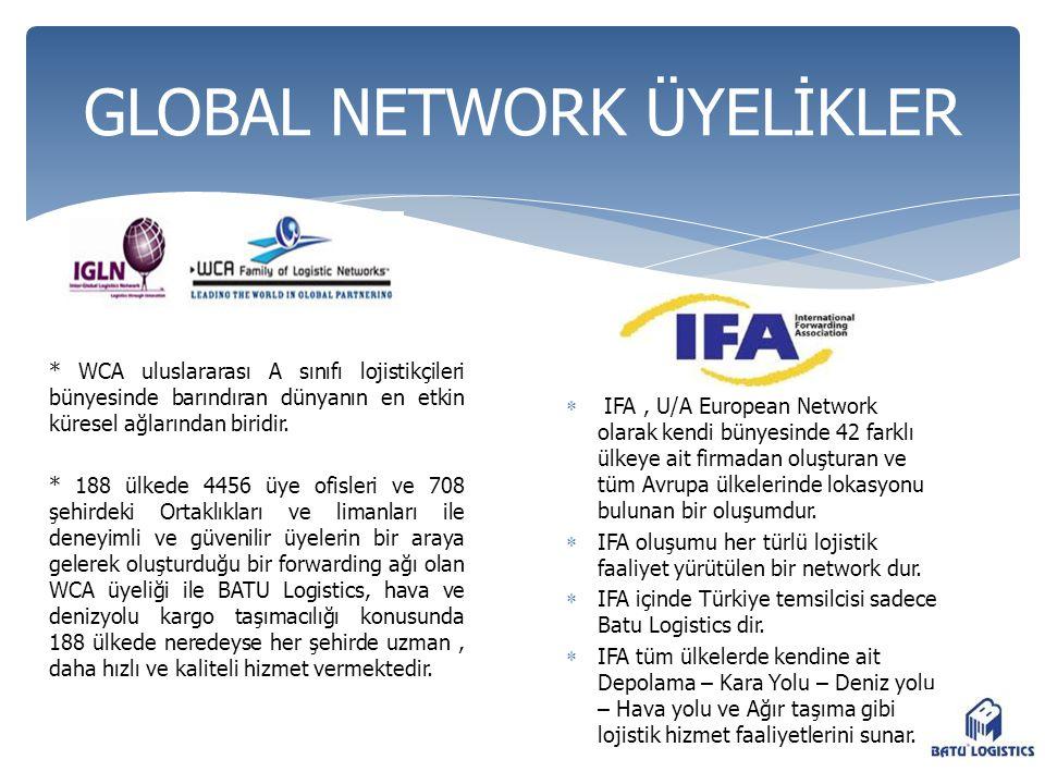 IFA, U/A European Network olarak kendi bünyesinde 42 farklı ülkeye ait firmadan oluşturan ve tüm Avrupa ülkelerinde lokasyonu bulunan bir oluşumdur.