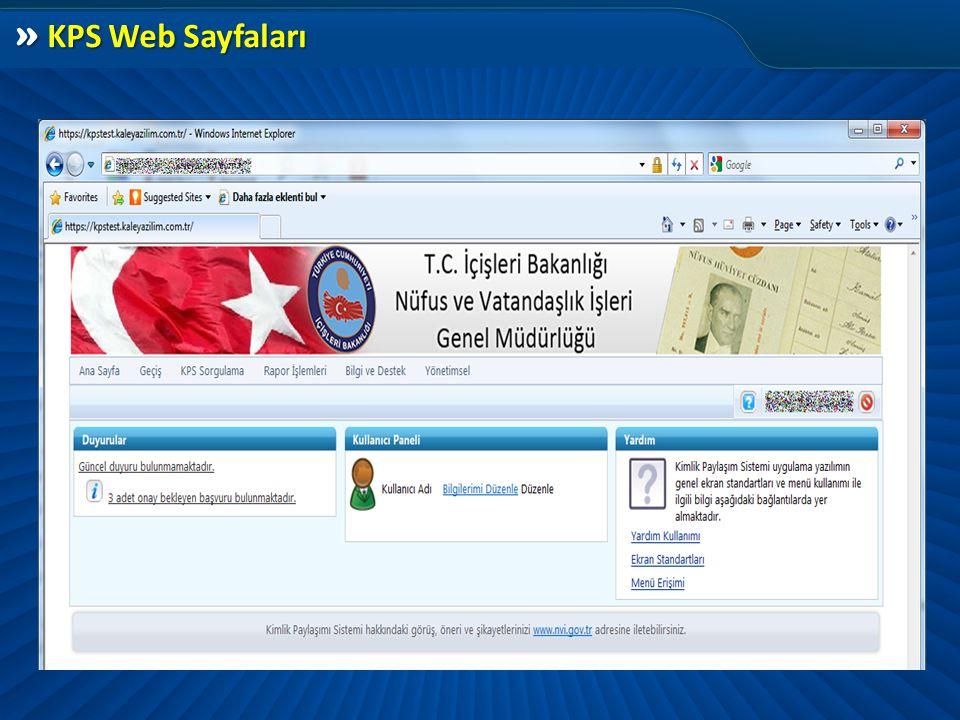 » KPS Web Sayfaları