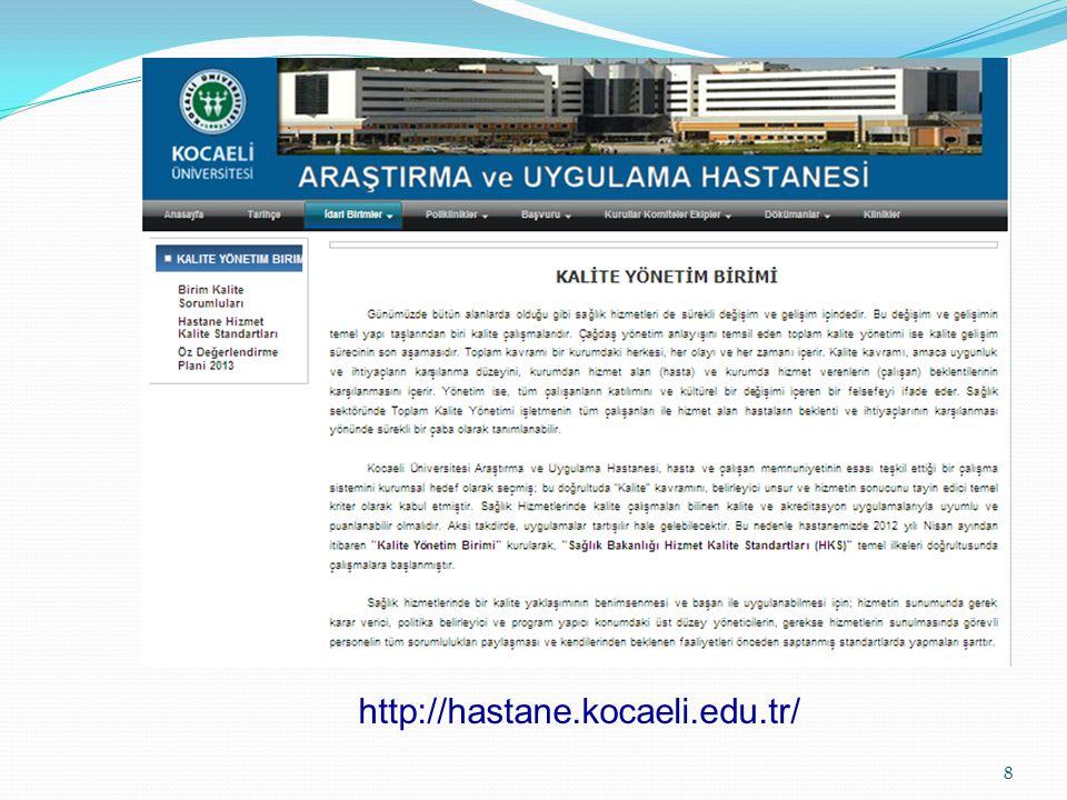 http://hastane.kocaeli.edu.tr/ 8
