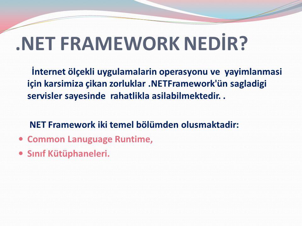 .NET FRAMEWORK NEDİR.