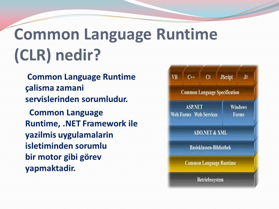 Common Language Runtime (CLR) nedir.