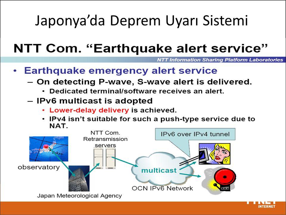 Japonya'da Deprem Uyarı Sistemi