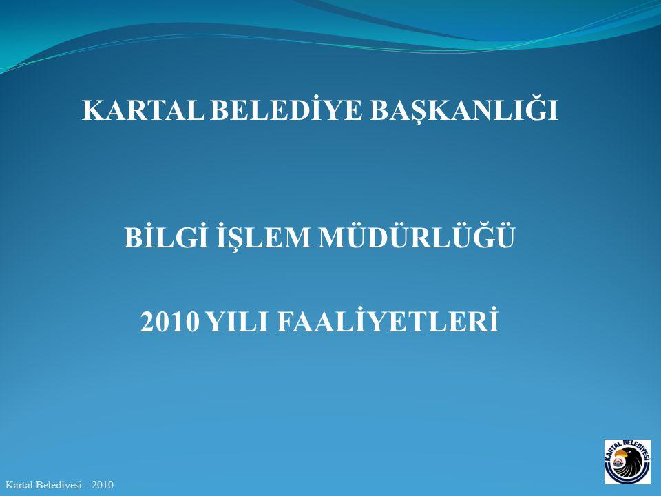 KARTAL BELEDİYE BAŞKANLIĞI BİLGİ İŞLEM MÜDÜRLÜĞÜ 2010 YILI FAALİYETLERİ Kartal Belediyesi - 2010