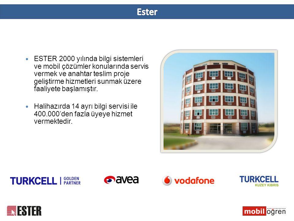  ESTER 2000 yılında bilgi sistemleri ve mobil çözümler konularında servis vermek ve anahtar teslim proje geliştirme hizmetleri sunmak üzere faaliyete