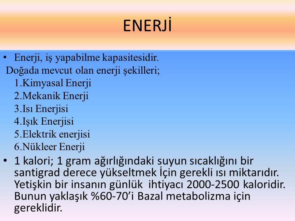 ENERJİ • Enerji, iş yapabilme kapasitesidir.
