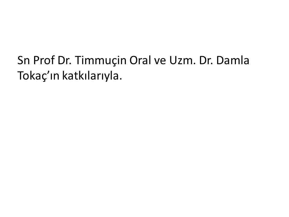 Sn Prof Dr. Timmuçin Oral ve Uzm. Dr. Damla Tokaç'ın katkılarıyla.
