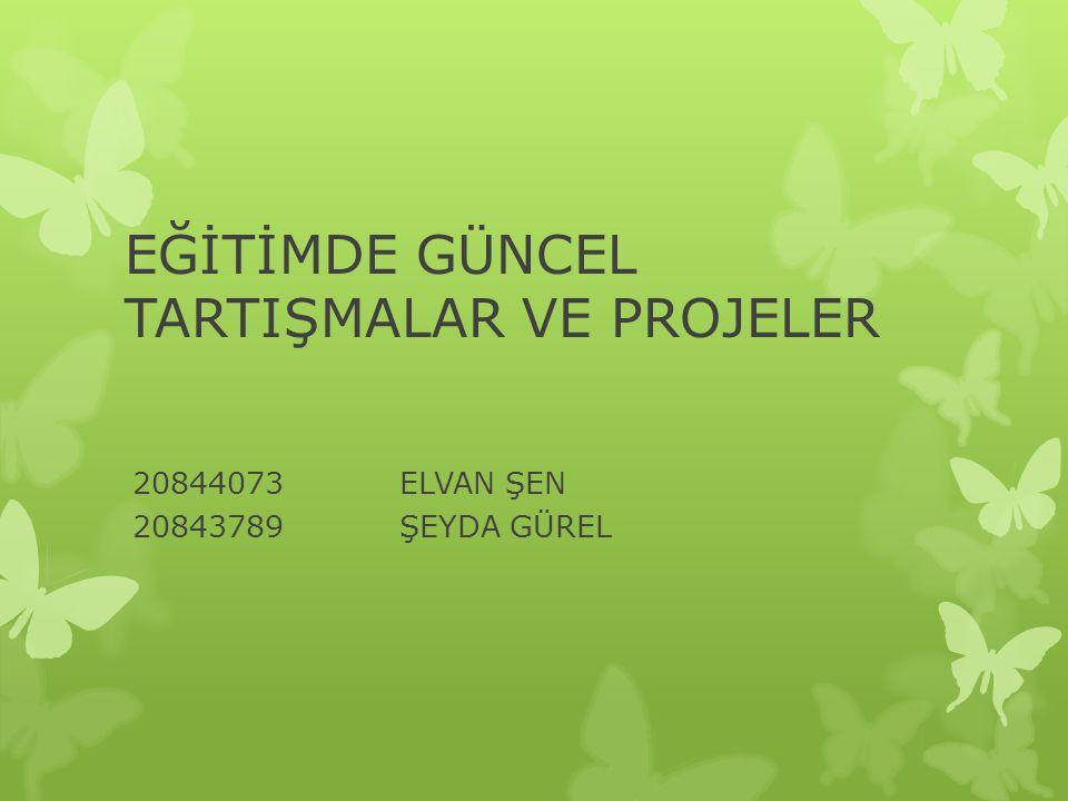 PROJENİN FAALİYETLERİ 1.