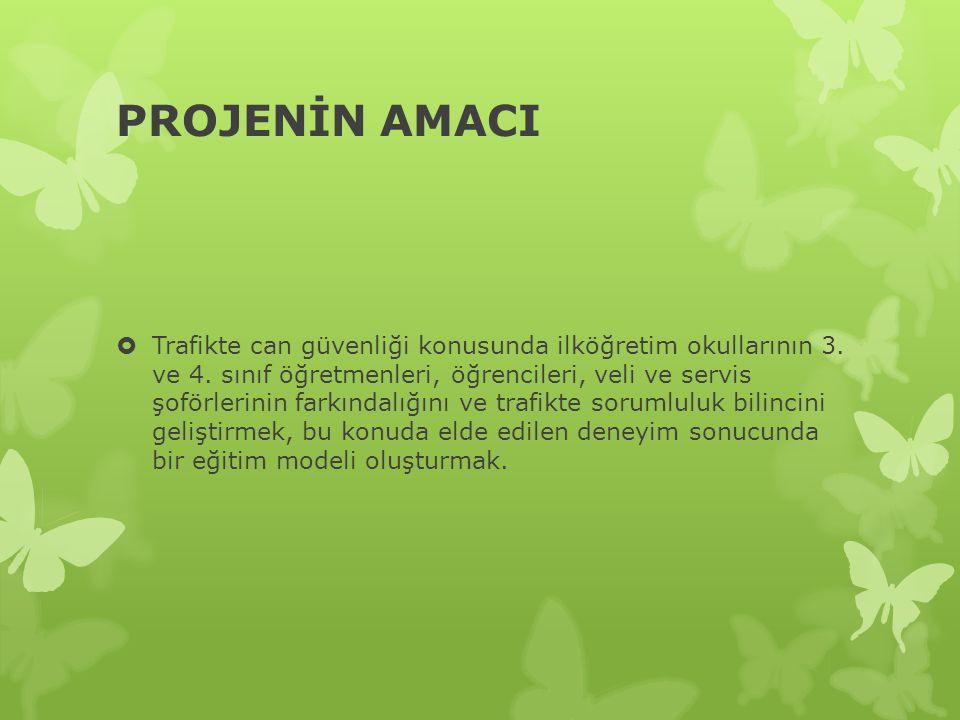 PROJENİN AMACI  Trafikte can güvenliği konusunda ilköğretim okullarının 3.