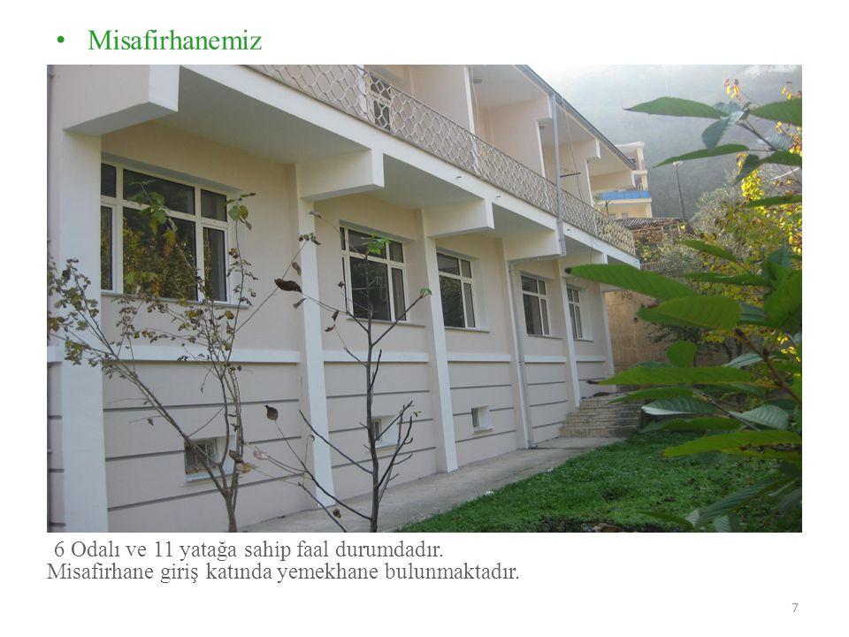 • Misafirhanemiz 7 6 Odalı ve 11 yatağa sahip faal durumdadır.