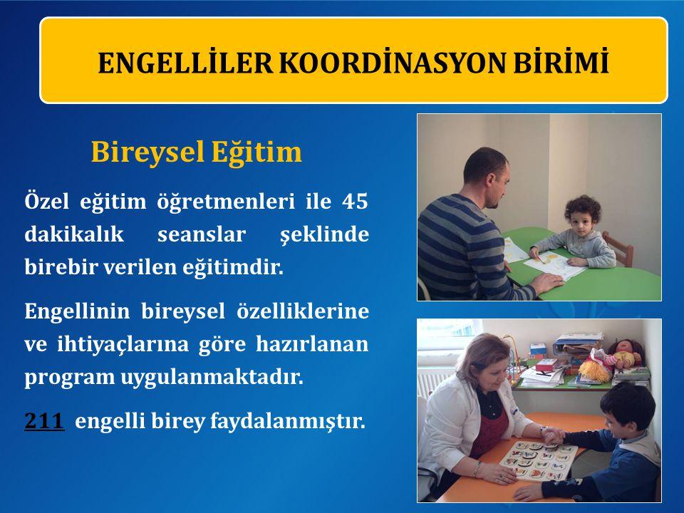 Bireysel Eğitim Özel eğitim öğretmenleri ile 45 dakikalık seanslar şeklinde birebir verilen eğitimdir.