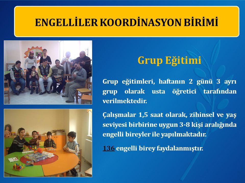 Grup Eğitimi Grup eğitimleri, haftanın 2 günü 3 ayrı grup olarak usta öğretici tarafından verilmektedir.