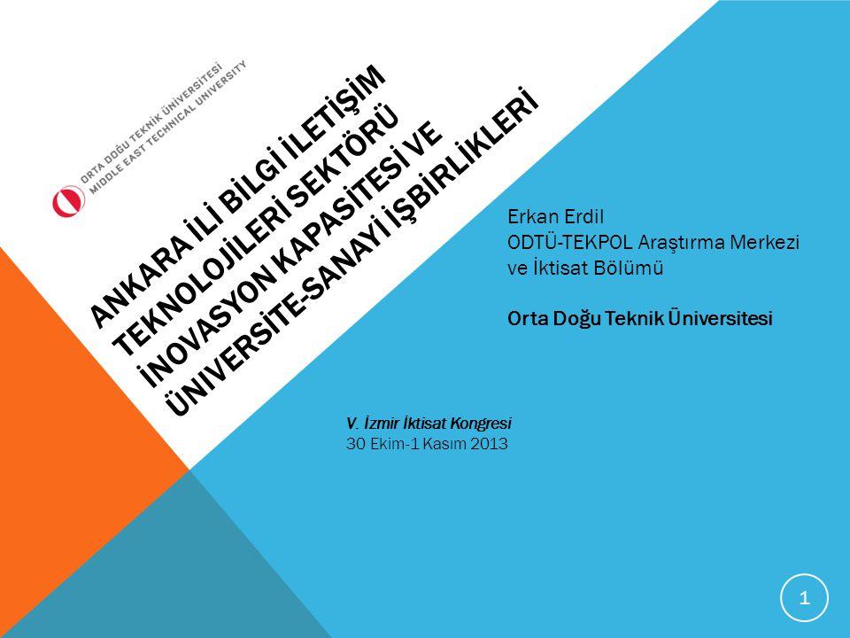ÇALIŞMANIN GENEL AMACI*  Ankara bölgesinin (TR51) küresel düzeydeki rekabetçi pozisyonunu, inovasyon kapasitesini ve üniversite- sanayi işbirliklerini doğrudan etkileyen Bilgi İletişim Teknolojileri (BİT) sektörünün mevcut durumunun analiz edilerek, bölgesel kalkınma açısından etkin strateji ve politika analizinin hazırlanması bu projenin genel amacını oluşturmaktır.
