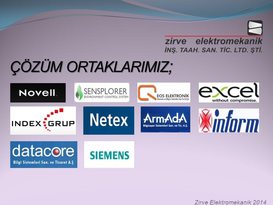 ÇÖZÜM ORTAKLARIMIZ ; ÇÖZÜM ORTAKLARIMIZ ; Zirve Elektromekanik 2014